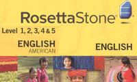 آموزش زبان انگلیسی لهجه آمریکایی رزتا استون همراه فایلهای صوتی Language Learning English American Levels 1-2-3-4-5 for Rosetta Stone + Audio Companion