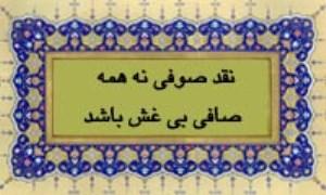 نقد صوفی نه همه صافی بی غش باشد