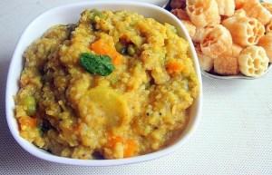 طرز تهیه غذای ملل  پوره برنج و سبزیجات هندی