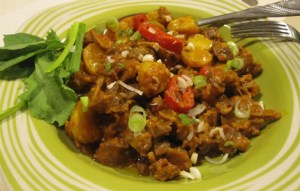 طرز تهیه غذای محلی خوراک دل آذربایجانی