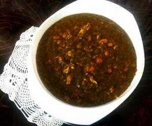 طرز تهیه غذای محلی آب تره محلی گیلانی