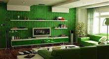 دکوراسیون با رنگ سبز