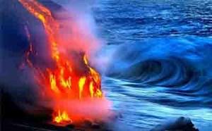 آتشی از دریا