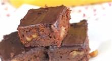 دستور تهیه براونی یخ زده لوبیای سیاه با شکلات دوبل
