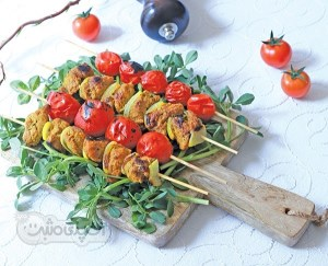 طرز تهیه کباب چنجه گیاهی(غذای رژیمی)