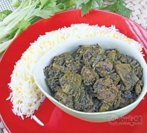 طرز تهیه خورش کرفس گیاهی (غذای رژیمی)