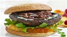 دستور پخت برگر قارچ و لوبیای سیاه