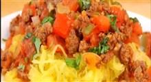 دستور تهیه کدوی اسپاگتی