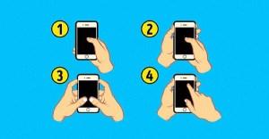 گوشی خود را به کدام شکل نگه می دارید؟