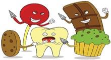 خوراکیهای مضر برای دندان
