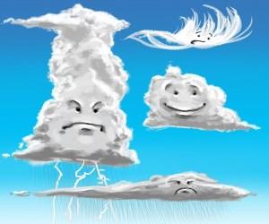 ابرهایی که بر سرمان می بارند