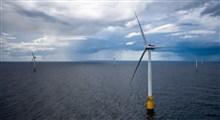استفاده از انرژی برق به دست آمده از نیروگاه های بادی مستقر در دریا