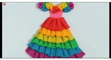 خمیربازی | ساخت لباس دخترانه خمیری
