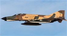 لحظاتی از تیک آف هواپیمای فانتوم F4 نیروی هوایی ارتش