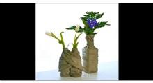ترفند | ساخت گلدان سیمانی از بطری