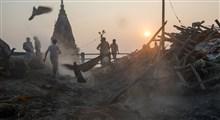 ترافیک مرده سوزی در شمنان گات های هند