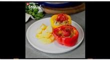 آشپزی | طرز تهیه خوراک دلمه فلفل دلمه ای