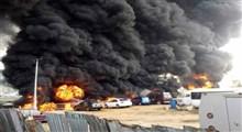 انفجار تانکر و کشته شدن راننده