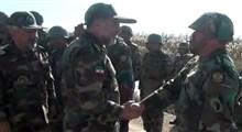 رجزخوانی حماسی نیروی تیپ 264 ارتش در مقابل فرمانده نیروی زمینی ارتش