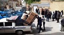 اهدای لوازم خانگی به سیل زدگان شیراز