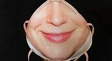 دستگاه جالب چاپ تصویر صورت روی ماسک