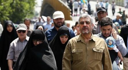 سردار عزیز جعفری در پیاده روی اربعین
