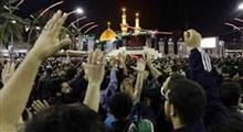 شعار مرگ بر آمریکای عزاداران حسینی در بین الحرمین