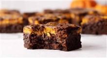کیک | طرز تهیه کیک براونی پنیری
