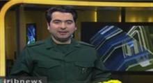 حضور مجری ۲۰:۳۰ در تلویزیون با لباس سپاه