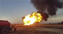 انفجار و آتشسوزی خط لوله نفت در لبنان
