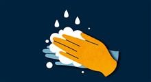 مقایسه وضعیت آلودگی دستها قبل از ضدعفونی و پس از آن