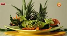 میوه آرایی | تزیین خیار و هویج