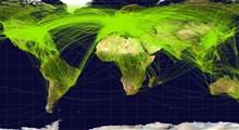 مقایسه ترافیک هوایی جهان قبل از کرونا و حین شیوع کرونا