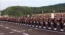 رژه منظم زنان ارتش هند