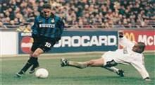 دبل باجو در بازی خاطره انگیز اینتر میلان - رئال مادرید