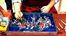 نقاشی زیبا روی آب و انتقالش به روی کاغذ!