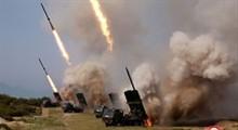 """رونمایی جهاد اسلامی از موشک """"بدر ۳"""""""