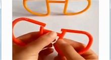 آموزش کاردستی   عینک با نی