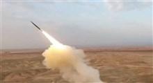 لحظه اصابت موشک های مبارزان فلسطینی به عسقلان