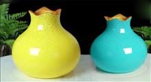 ترفند|ساخت گلدان سرامیکی رنگی
