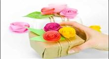 ترفند   ساخت گل کاغذی تزیینی