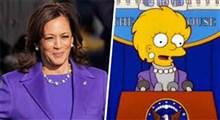 شباهت لباس کاملا هریس به یک شخصیت کارتون سیمپسون ها