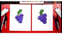 آموزش نقاشی به کودکان | خوشه میوه بلوبری