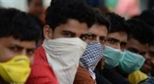 تنبیه بدنی با چماق برای جلوگیری از رفت و آمد در پی شیوع کرونا تو هند