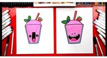 آموزش نقاشی به کودکان | لیوان بستنی