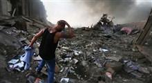 تصاویری از زنده بیرون کشیدن دختر بچه ای از زیر آوار انفجار بیروت