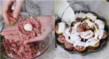 آشپزی|طرز تهیه سیب زمینی شکم پر با کوفته