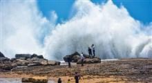 پدیده ی زیبای موج فشان چابهار