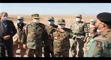 رجز خوانی یک ارتشی دلاور در مقابل فرمانده