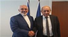 دیدار ظریف با وزیر امور خارجه فرانسه/ تنها راه درست، بازگشت اروپا به انجام تعهدات ذیل برجام است